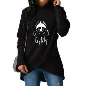 DHgate 2018 new fashion cry baby print  sweatshirts femmes hoodies harajuku cotton thick autumn comfortable casual pullovers female