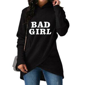 DHgate 2018 autumn women's new fashion bad girl print comfortable long sleeve hoodie sweatshirt women's  large size female