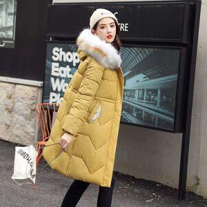 DHgate 2020 winter plus size long jacket for women korean style slim solid parka mujer hooded fur collar thick coats kurtka damska