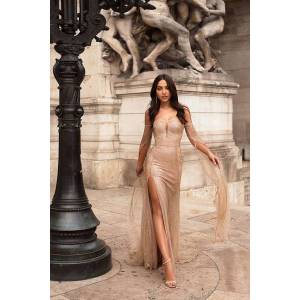 DHgate foreign trade in europe and america new sequined-raglan dress strapless dress slit dress women
