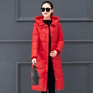 DHgate plus size x-long jacket women 2020 winter solid mujer parkas hooded stand collar slim thicken office ladies cotton kurtka damska