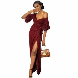 DHgate 2020 european and american-style cross-border foreign trade womens sequined long evening dress party dress