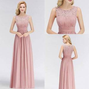 DHgate babyonlinedress in stock lace chiffon evening dresses 2020 wholesale bust ruched prom dresses evening prom gowns under $30cps1067