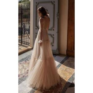 DHgate foreign trade supply wholesale 2019 european and american-style new sequined rhinestone transparent dress maxi dress