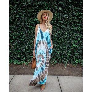 DHgate 2020 summer fashion women off shoulder designer print dresses v-neck sling evening gown party long maxi long skirts sundress casual dress
