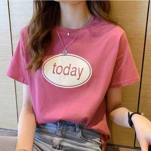 DHgate short-sleeved t-shirt female summer new korean version of the loose round neck nv ban xiu t-shirt wild