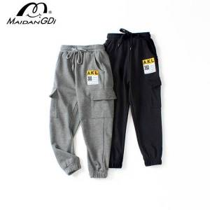 DHgate maidangdi sale 2020 new spring warm children's sports pants teenagers cotoon knitted tooling boys trousers autumn childrens