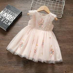DHgate baby girl dress princess floral1st birthday dress for baby girl fashion wedding evening for girls summer clothes 2020