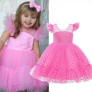 DHgate girls tulle princess for girl dress kids elegant wedding birthday party prom dresses children communion bridesmaid evening clothes