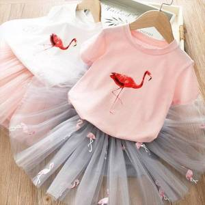 DHgate summer girls easter flamingo girl dresses elegant party ball gown xmas festival evening for year princess costume