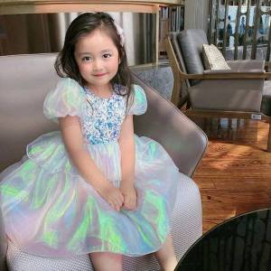 DHgate fancy girls princess costume girl dresses sequines chidlren wedding evening ball grown kids for clothing size 3 10y
