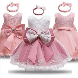 DHgate baby girls christmas costume girl dresses winter evening ceremony for kids cotton 12m 24m infantil birthday party clothing wear