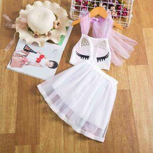 DHgate classic cartoon unicorn dress for girls flower girl wedding evening chidlren clothing 3-8 years kids birthday party princess dresses