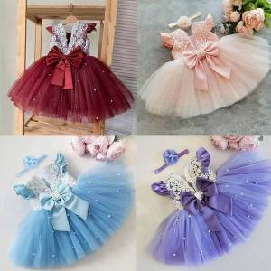DHgate classic baby kids princess dresses for girls children birthday party gown girls evening communion dress lace dress for wedding