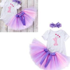 DHgate kids girl clothes 2021 summer princess baby girls clothing princess tutu skirt+romper+headband infant girls clothing set baptism