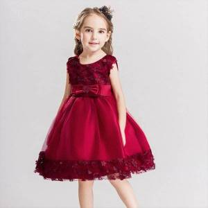 DHgate summer girls for party and girl dresses wedding bridesmaids kid clothes evening flower prom princess
