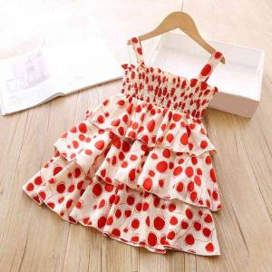 DHgate girl's dresses summer kid clothing polka dot cake for girls princess party evening jl4t