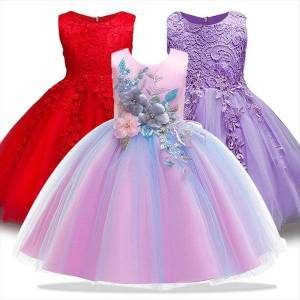 DHgate bridesmaid party evening fashion princess girl dresses for girls 3 7 years formal clothing children