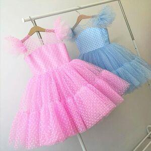 DHgate girls mesh tulle princess girl dresses for kids 4 10 years wedding party tutu prom vestidos children communion evening formal
