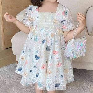 DHgate girl's dresses summer for girls party lace mesh wedding evening princess 7oeg
