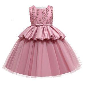 DHgate girl's summer evening ball gown flower kids dresses for girls children party and wedding girl elegant princess dress c0223