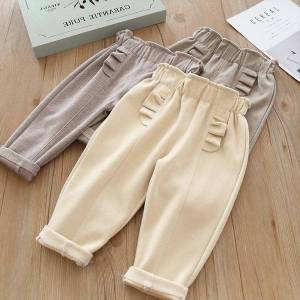 DHgate girl pants kids spring autumn clothes children trousers for baby girls casual solid 90~140 toddlers