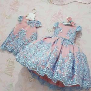 DHgate classic embroidery flower wedding evening children clothing princess party kids dresses for girls birthday party lace flower ball gown