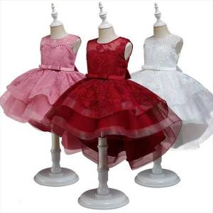 DHgate girls lace princess christmas embroidery girl dresses clothes kids wedding birthday party ball gown children bridesmaid pageant evening