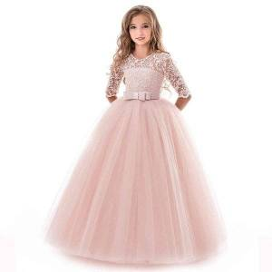 DHgate dress for kids girls dress for wedding evening children princess party pageant long gown kids dresses for girls formal clothes