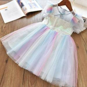 DHgate little princess party for girl dresses girls sequined evening gown birthday crystal fashion 3 8t kids casual holiday wear