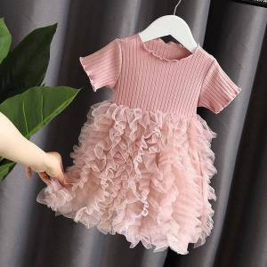 DHgate girl's dresses spring summer kids clothing girls clothes children's baby girl dress christmas evening dresses tdgm