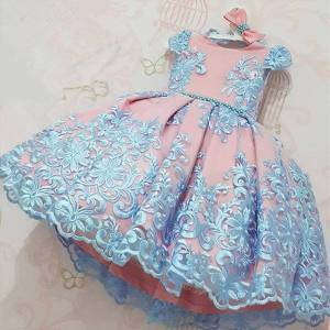 DHgate elegant girls party flower girl dresses 4 10y princess for wedding kids evening prom pageant