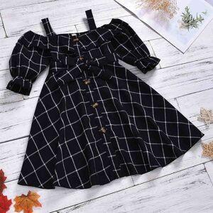 DHgate girl's dresses summer plaid girls baby girl clothes cute princess children's kids evening yyj2
