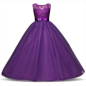 DHgate 5 14 years teenage girl dresses long evening children kids for girls graduation communion gown prom party lace