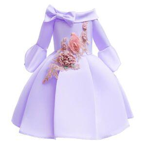 DHgate kids christmas dresses for girls princess flower wedding dress children formal evening party dress