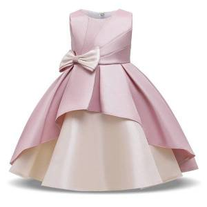 DHgate girl's summer bowknot evening girl clothes kids dresses for girls children pageant ball gown host prom party princess dress c0223