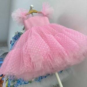 DHgate 4 10 yrs fancy baby girl dress girls year party evening gowns elegant princess wedding kids dresses for
