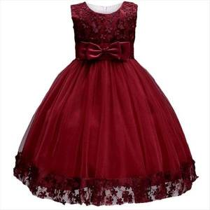 DHgate lace girls wedding party for girl dresses birthday baby kids costume evening ball dress teenager vestidos clothes