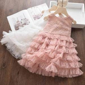 DHgate girl's dresses summer kid clothing for girls princess party clothes evening n12m