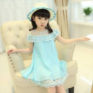DHgate summer kids for girls chiffon girl dresses quality lace princess children evening clothing 4 6 8 9 10 12