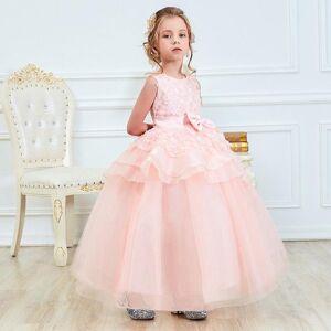 DHgate girl's dresses flower girl wedding evening children clothing kids for girls princess long prom gown halloween party dress
