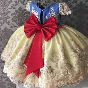 DHgate classic elegant girls dress flower girl wedding evening children clothing embroidery princess party pageant kids dresses for girls