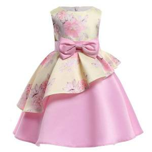 DHgate girl's lzh elegant children princess dresses for girl evening party flower wedding kids dress girls christmas costume c0228