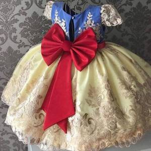 DHgate elegant girls flower girl dress wedding evening children clothing embroidery princess party pageant kids dresses for