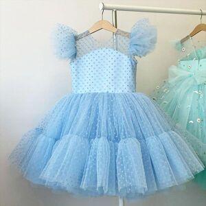 DHgate kids girl party summer dresses bridesmaid girls beading prom ball gowns girlish evening children costume