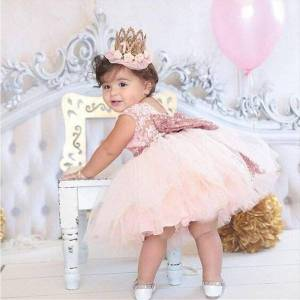 DHgate gorgeous baby events party wear girl dresses tutu tulle infant christening gowns childrens princess for girls toddler evening dress