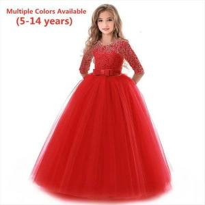 DHgate spring summer princess lace girls girl dress kids party wedding evening for ball gown children formal dresses