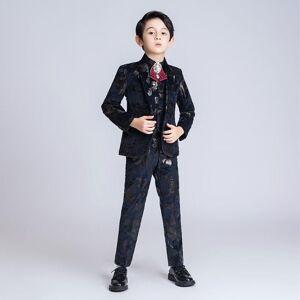 DHgate yuanlu kids suits for boy infantil menino for wedding blazer jacket formal boys suits blazer vest pants kinderkleding jongens