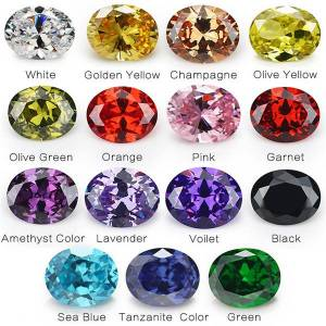 DHgate 1pcs per colors total 15pcs size 4x6mm ~ 10x12mm oval shape loose cubic zirconia stone