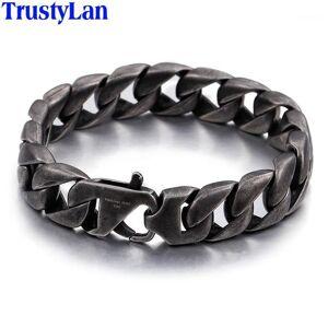 DHgate trustylan vintage black stainless steel men bracelet 15mm wide men's chain bracelets & bangles armband jewelry pulseras hombre1